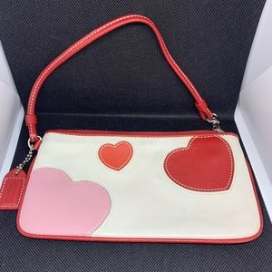 Coach wristlet with hearts